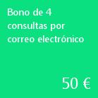 Bono de 4 consultas por correo electrónico